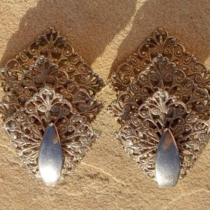 Vintage 60s Sarah Coventry Chantilly Lace Earrings